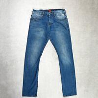 Mens SUPERDRY Jeans Slim fit Twisted seam carrot leg mid blue denim Size W30 L32