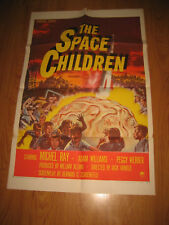 "THE SPACE CHILDREN Original 27"" X1sh 1958 rocket & giant alien brain!"