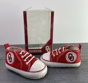 * University of Oklahoma Sooners Team Shoes Baby Small 0-3 Months