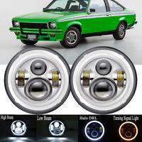 """1pr 7"""" Halo LED Headlights For Holden Torana GTR XU1 A9X LH LX LC LJ SLR5000"""