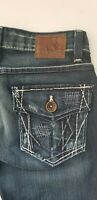 Buckle BKE Stella Ultra Low Rise Boot Cut Jeans. Stretch. 5 Pocket. Size 24