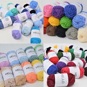 Hello 100% Cotton Amigurumi Yarns Pack of 12/14 balls 25g each