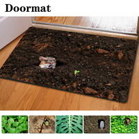 Non-slip Rubber Doormat Home Garden Bedroom Funny Rugs Bath Mat Carpets Indoor