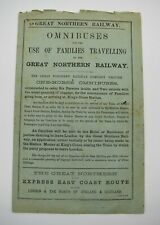 More details for great northern railway handbill omnibuses for the use of families travelling