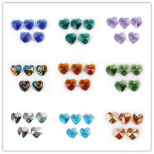 Bulk 14mm 20 Colors Glass Crystal Heart Faceted Loose  Beads Pendant Findings