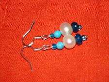 Hook Natural Pearl Round Costume Earrings