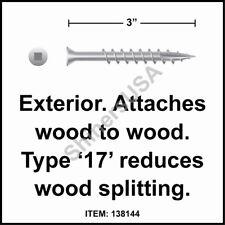 (2000) 7x3 Square Trim Head 305 Coarse 17 Stainless Steel Screw #138144