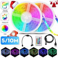 10M 2835SMD 300LED RGB Strip Light Waterproof Flexible+44 Key IR 12V Power Kits