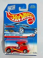 Hot Wheels 1999 First Editions #8 Semi-Fast Red w/ Red Grille 5SPs