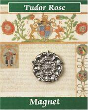 Tudor Rose Fridge Magnet - Pewter