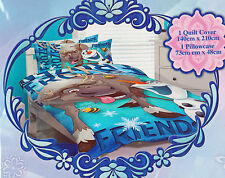 Disney FROZEN OLAF and SVEN Blue SINGLE Duvet/Doona/Quilt Cover SET BNIP