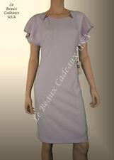IVANKA TRUMP Women Dress Size 10 WOOD ROSE Short Sleeve CREPE Dressy Knee LBCUSA