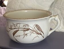 Aesthetic Antique Brown Transferware Ironstone Chamber Pot Summertime Tr Boote