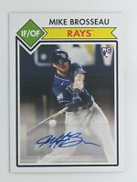 2020 Topps Montgomery Club Mike Brosseau Auto RC Autograph Tampa Bay Rays