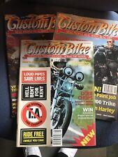 Custom Bike Magazine 3 Issues See Description 1992