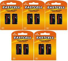 10 x CR123A Lithium Batterie ( 5 Blistercards a 2 Batterien) Markenware EASTCELL