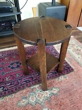 Mission style Art and Crafts Oak End table Restored