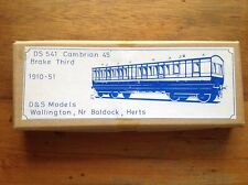 More details for d&s models 541 cambrian/gwr brake third finescale etched brass 00 coach kit.