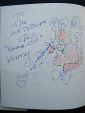 WALT DISNEY - Early Years SIGNED by Animator JACK KINNEY wi HIS ORIGINAL DRAWING