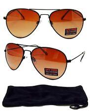 HD Aviator SunGlasses Blue Blocker Lens Black Metal Frame Golf Driving Glasses