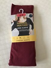 BNWT MARKS & SPENCER THERMAL HEATGEN LONG SLEEVE THERMAL TOP DEEP RED SIZE 18 20