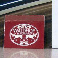 Vintage Matchbook Cover B9 Liechtenstein Schaanwald Fox Rabbit Deer Waldhof