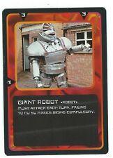Doctor Who Black Border CCG Creature Card Giant Robot Common Card Good