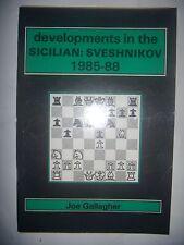 CHESS ECHECS: Developments in the Sicilian: Sveshnikov: 1985-88, 1988, BE