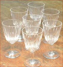 """BACCARAT CRYSTAL LORRAINE SHERRY / WINE STEMS 4.75"""" EXCELLENT SET OF SEVEN"""