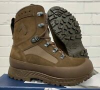 HAIX BROWN LEATHER HIGH LIABILITY DESERT COMBAT BOOTS - Sizes , British Army NEW
