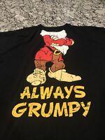 Disney Always GRUMPY Santa Black Small T Shirt Christmas Snow White Seven Dwarfs