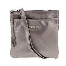 MALLY METALLIC TAUPE HAND BAG / MAKEUP BAG