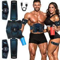 ABS Stimulator Muscle Toner Abdominal Toning Belt Muscle Trainer USB Charging