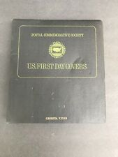 Vintage 1972 US First Day Cover Stamps Book Stamp Postal Commemorative Society