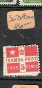 SAMOA  (P01006B)  5D   SG 72A   MOG