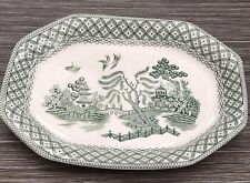 Green Willow Ironstone JG Meakin Small Serving Dish