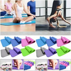 Exercise Fitness Camping Gym Meditation Pad Non-Slip Yoga Mat 173 x 60 cm 8mm