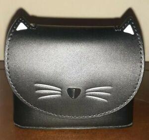 NWT KATE SPADE Black Cat Coin Purse Pouch Key Fob Charm Handbag Keychain Tote