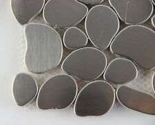 11PCS metal stainless steel mosaic tiles kitchen bathroom TV background wall
