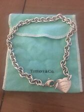 Return To Tiffany Heart Tag Choker Necklace Sterling Silver