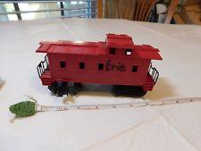 Vintage red passenger train car cargo railway plastic WRITING ON SIDE railroad
