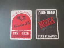 only 2 issues 1989  SOVEREIGN Micro  BREWERY,Ballarat ,collectable COASTERS