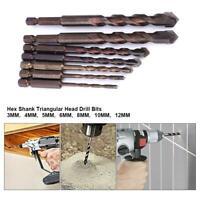 7Pcs Quick Change Hex Shank 3/4/5/6/8/10/12mm Carbide Drill Bit Power Tool Set