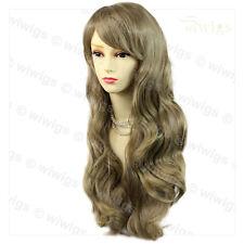 Wiwigs Beautiful Ash Blonde Long Layered Way Skin Top Ladies Wig