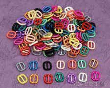 14 Cols total 140pcs Pearl Buckle Ribbon Sliders (S09)