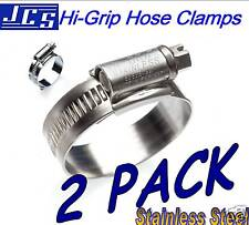 2 X 60 - 80mm Hi Grip STAINLESS STEEL Hose Clip EXHAUST