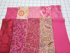 PINK JELLY ROLL 20 FABRIC STRIPS 2.5 X 44