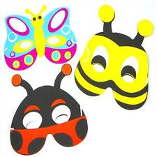 6 x Foam Insect Masks - Bug Party Bag Fillers, Loot Toys - Great for Girls