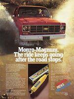 1978 Print Ad of Monroe Monro-Magnum Shocks on Chevrolet Chevy 4x4 Pickup Truck