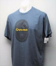 New Mens SMALL Taylormade Carlsbad Navy Heather cotton polyester golf t shirt